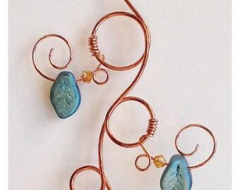 Everything's Peachy Swirl Acorn Ornament-Window Charm