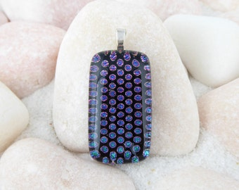 Fused Glass Dichroic Pendant