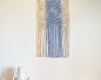 Cheveron Macrame Wall Hanging - Lilac colour block