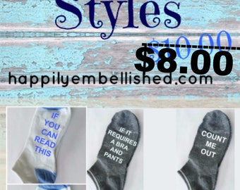 If You Can Read This Bring Me Wine Socks, New Spring Styles and Colors