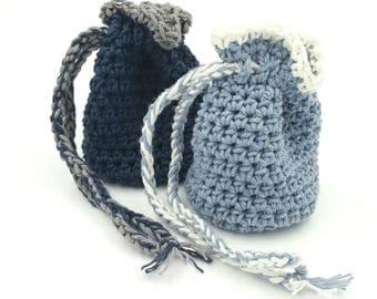 Crocheted Pouch, Crocheted Bag, Dice Bag, Trinket Bag, Jewelry Bag, Crystal Bag, Crystal Pouch, Gift Bag, Coin Purse, Treasure Bag