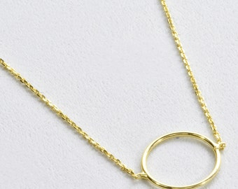 Yellow Gold Circle Bracelet