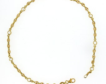 Anklet. 18KT Gold and Cubic Zirconia Anklet