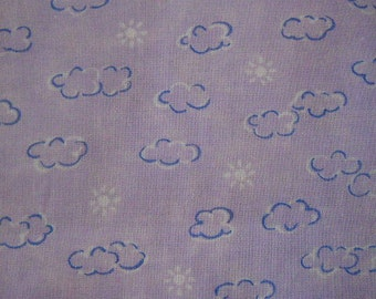Clouds and Suns on Lavender Baby Crib Sheet