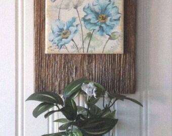 Wall candle holder/vase, barnwood vase, candle holder, wall vase, cottage, barnwood wall vase, country decor, french country decor