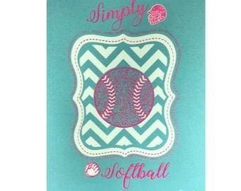 Simply Softball Tee~Aqua