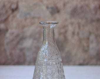 Antique French Kattras Amer Mandarine Clear Glass Bottle