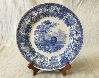 Vintage Spode Blue Room Collection Aesops Fables Dinner Plate