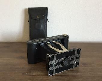 Vintage Jiffy Kodak Six-16 Camera with Folding Bellows; Art Deco Camera; Vintage Kodak Camera; Camera with Case; Antique Camera