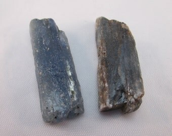 South African Blue Kyanite Crystal - Set of 2 - Tranquility, Chakra Balancing, Stress Relief, Aura, Healing, Calm - Crystal Cave