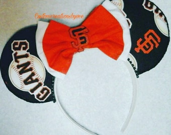 San Francisco giants baseball ears/san francisco giants ears/handmade ears/baseball ears