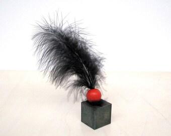 Art object, minimalist sculpture, desk sculpture, surreal art, abstract sculpture, metal sculpture, wood sculpture,