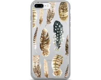 Feathers Clear iPhone 7 Case iPhone 6s Case Transparent  iPhone 6 Case - iPhone 5 Case - iPhone 5S Case - iPhone 6 Plus Case