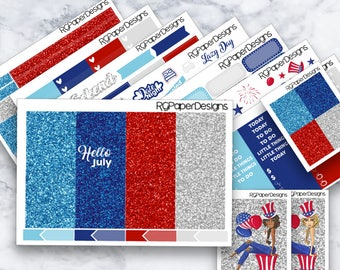 Fourth of July | Hello July | ECLP | Happy Planner Classic | Weekly Kit