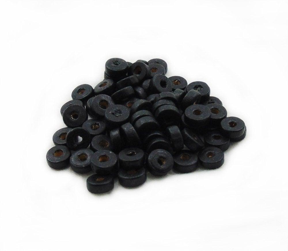 black rondelle wood beads 150pcs black wooden beads 8mm rondelle wood beads black rondelle. Black Bedroom Furniture Sets. Home Design Ideas