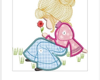 APPLIQUE SARAH KAY machine embroidery download 3 diff size (  4x5  5x6 6x6)