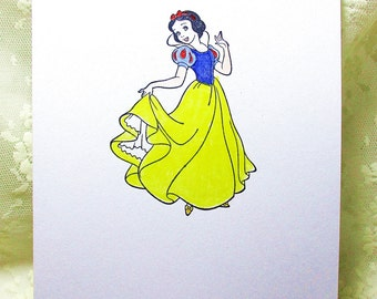 Snow White Card: Add a Greeting or Leave Blank