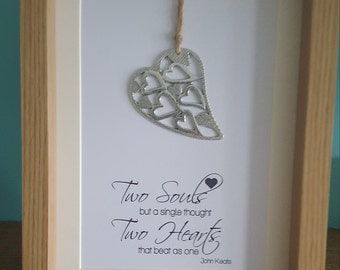 Two Soul, Two Hearts Wedding Frame