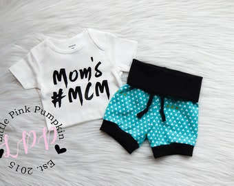 Baby Boy Clothes, Mother and Son, Mom's MCM Shirt, Mom's #MCM Outfit, Mom's Man Crush Monday Outfit, Hipster Clothes, Baby Shower Gift
