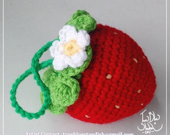 Crocheted Little Strawberry Pouch