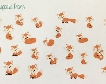 Cute Foxes Planner Stickers