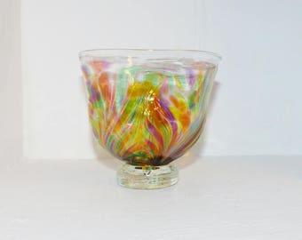 Kitras Art Glass Art Nouveau Bowl - 1315
