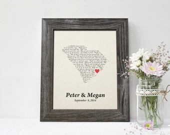 2nd Anniversary Gift State Map Print, 1st dance song, Cotton Anniversary Gift, 2nd wedding anniversary gift, 2 year together gift - CT0142