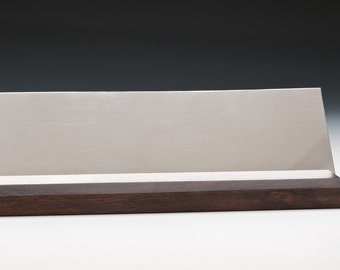 Pewter with Stained Cherry Desk Plate