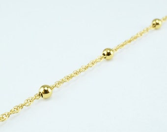New Gold Filled Chain 18K Ball Size 4mm Chain Size 1.5mm for Jewelry Making GFC51 Sold by Foot