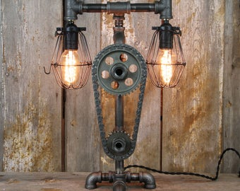 Industrial Desk Lamp - Steampunk Table Lamp #33