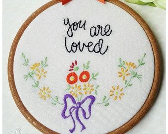 Embroidery hoop art, wall Art, quote hoop art, vintage linen, inspirational quote, embroidery art, gift for her, wall art, hand embroidery