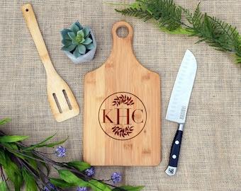 Monogram Cutting Board, Custom, Personalized, Cheese Board, Monogram Gift, Present, Engraved, Wedding, Shower, Birthday, Housewarming Gift