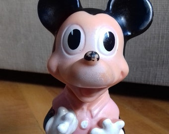 Mickey Mouse- vintage rubber toy/ doll, squeeze toy-made by Biserka Zagreb/ Walt Disney/collectible