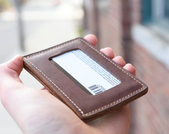 Minimalist Leather ID Wallet,  Leather Card Holder, Minimalistic Wallet,  Awesome Gift, Super Functional Wallet