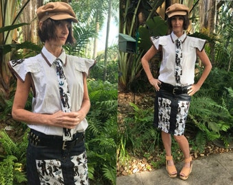 Star Wars Steampunk Shirt- Star Wars The Force Awakens Shirt- Industrial Blouse- Up cycled Eco- Rey- Chewbacca- Size Large