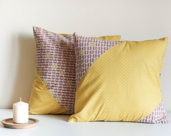 2 covers for cushions hand sewn 40x40cm