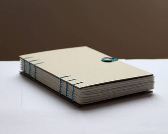 A5 Handmade coptic stitch bound sketchbook with 300gsm / 140lb watercolour paper
