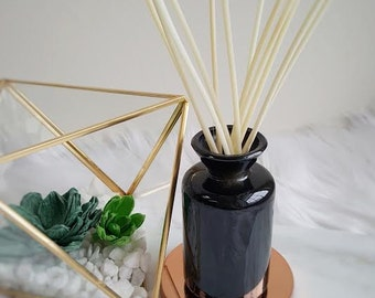 Reed Diffuser - Black Jar - Essential Oil Blend - White Reeds - 3 ounces - Gift - Home Decor