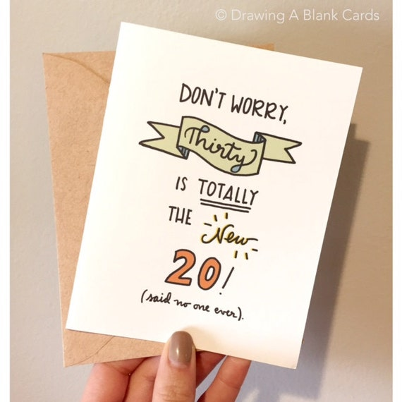 Items similar to 30 is totally the new 20 birthday card on etsy bookmarktalkfo Choice Image