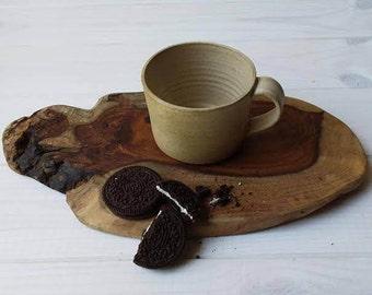 Ceramic Espresso Mug, Ceramic Espresso Cup, Ceramic Coffee Mug, Coffee Lovers Gift, Pottery Coffee Cup, Pottery Mug, Small Beige Coffee Cup