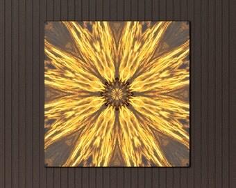 Prosperity print on canvas ~ Mandala wall art ~ Feng Shui decor ~ Sunset Photography ~ Unique Housewarming Gift ~ Visionary Art ~ Australia