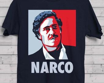 Pablo Escobar / Only Narcos / Memeingful Original / Boyfriend T-shirt