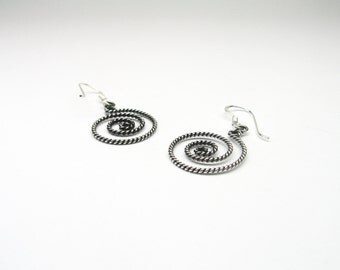 Beautiful delicate spirals Sterling Silver 925 earrings of earrings spiral