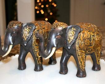 Gold Elephant Statue Etsy