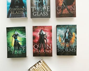 Throne of Glass Series Book Matches // Sarah J Maas // Stocking Stuffers