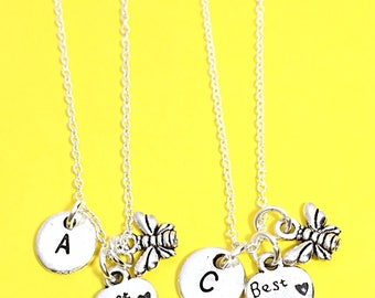 925 Sterling Silver,Silver Best Friends Necklaces -Set of Two Friendship Necklaces,bff,Bff Charm,Best Friend,Friend Gift,Best Friend Jewelry