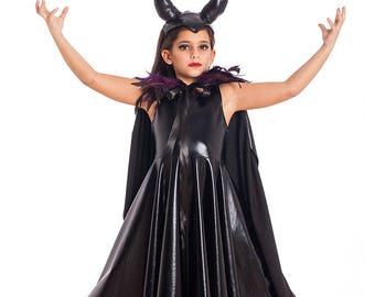 Girls Maleficent Costume, Halloween Costumes, Kids Costumes, Girls Halloween Costume, Maleficent Horns, Girls Toddler Costume.