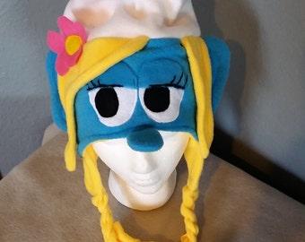 Smurf Hat/ Smurfette Hat/ Smurfette fleece Hat/ Children's and Adult Smurf Winter Hat/ Great Halloween Hat