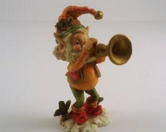 Vintage Enesco The North Pole Village Snapper Elf Collectable Figurine 1986
