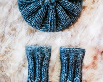 Shira Crocheted Hat and Gloves Set